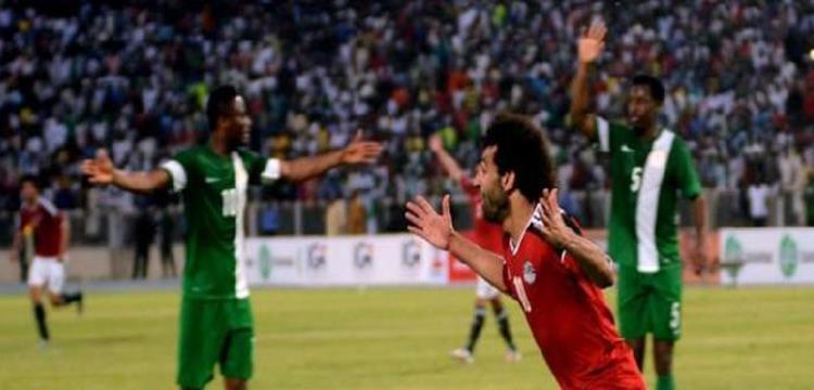 محمد صلاح بعد تسجيل هدفه في نيجيريا