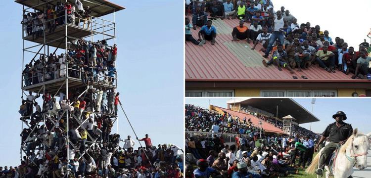 جماهير نيجيريا أثناء مواجهة مصر