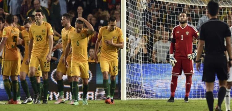 من مباراة استراليا والأردن