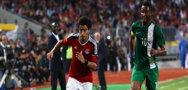 من مباراة مصر ونيجيريا