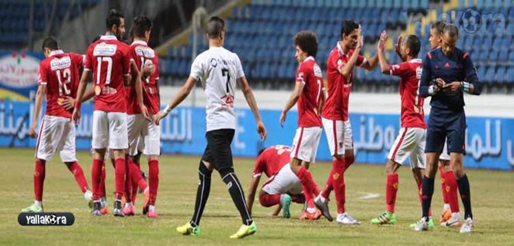 جانب من مباراة الأهلي وديروط
