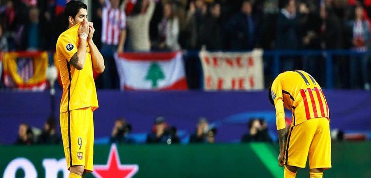 سواريز ونيمار في مباراة أتلتيكو