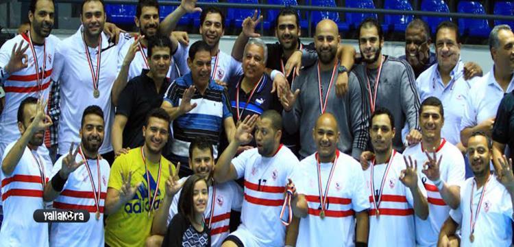 فريق الزمالك بطل كأس مصر لكرة اليد