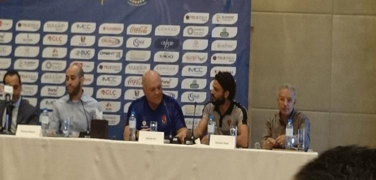 مارتن يول في المؤتمر الصحفي لمباراة الأهلي وروما