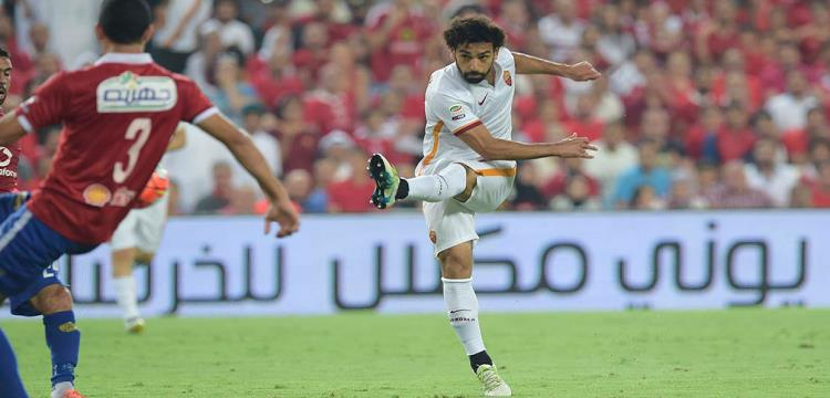 محمد صلاح لاعب روما في مواجهة الأهلي الودية الأخيرة