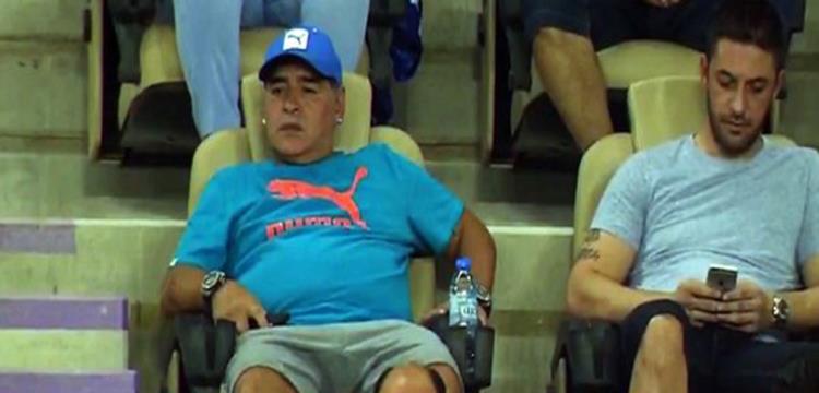 مارادونا في مباراة الأهلي وروما