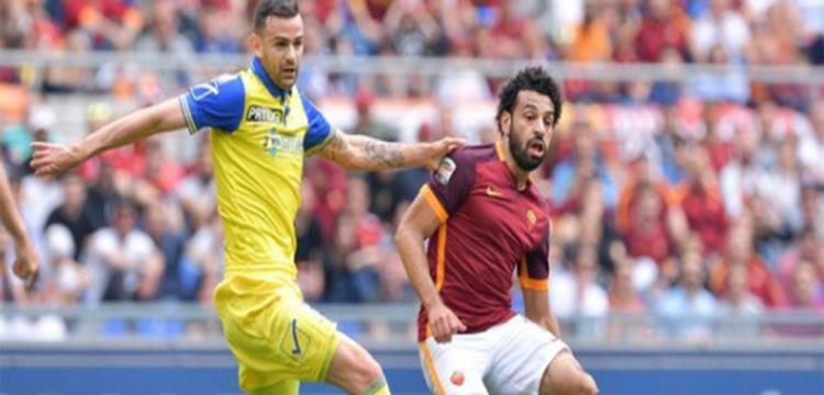 محمد صلاح في لقطة من المباراة