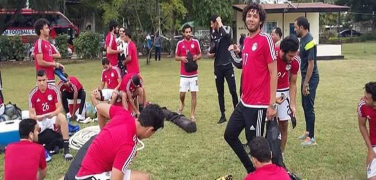 تدريبات منتخب مصر استعدادا لتنزانيا
