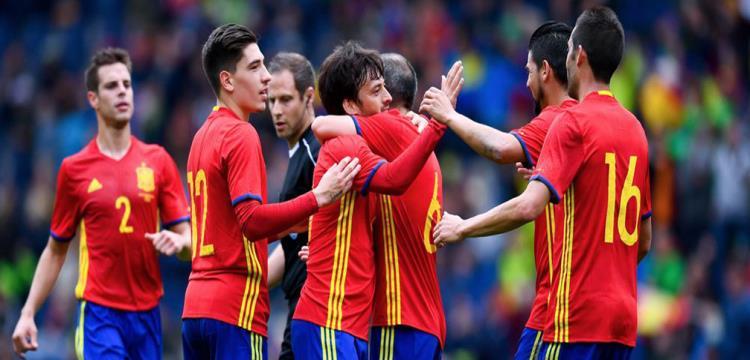 لاعبو المنتخب الأسباني