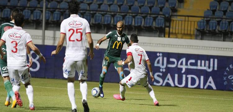 لقطة من مباراة الزمالك والمصري