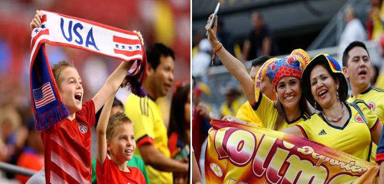 جماهير كولومبيا وأمريكا