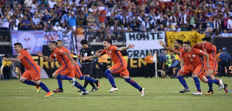 احتفال تشيلي بالفوز
