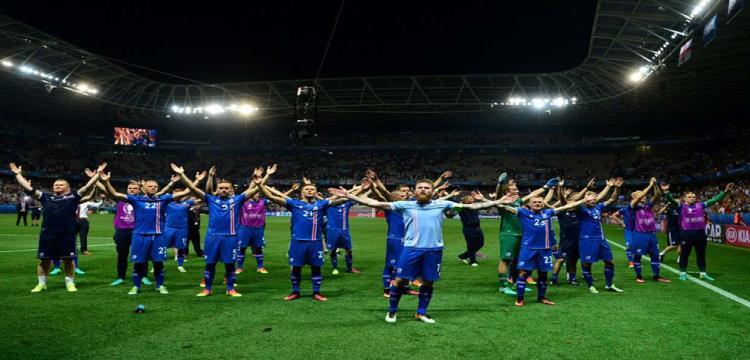 لاعبو أيسلندا