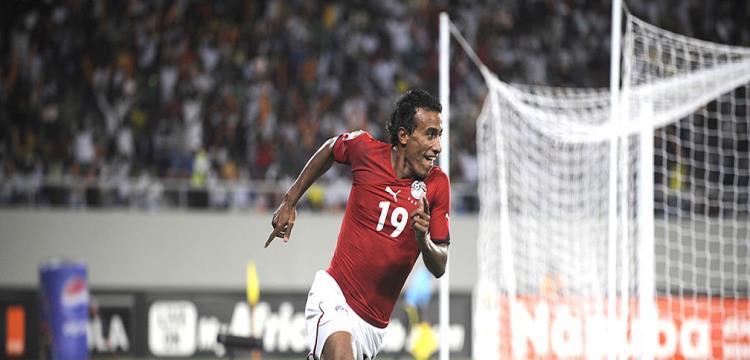 محمد عبد الشافي في مباراة سابقة مع مصر
