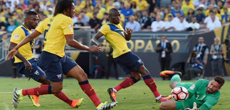من مباراة البرازيل والاكوادور