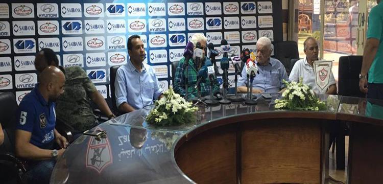 مؤمن سليمان خلال المؤتمر الصحفي