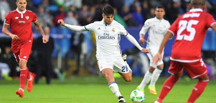 أسينسيو لاعب ريال مدريد سجل في السوبر الأوروبي
