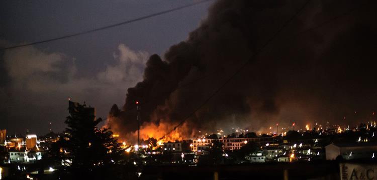 حريق البرلمان الجابوني