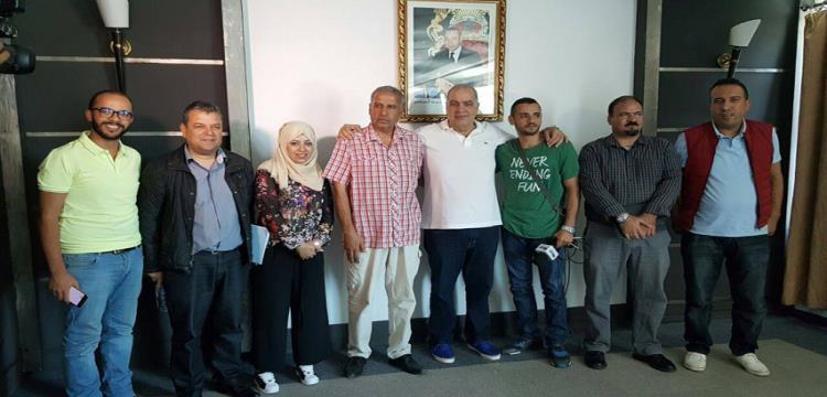 زادة مع الإعلاميين المغاربة