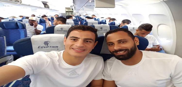 لاعبو الزمالك قبل المغادرة للمغرب