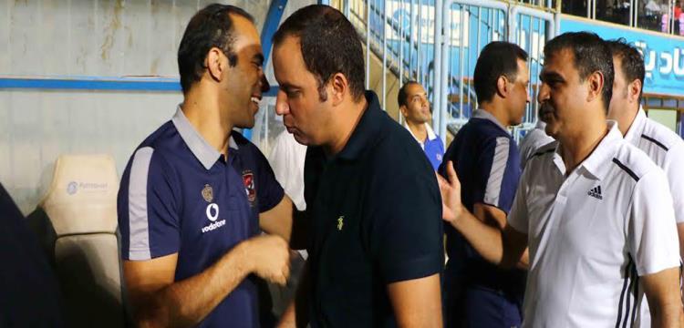 عودة مع سيد عبد الحفيظ قبل المباراة