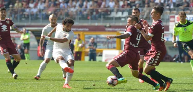 محمد صلاح في مباراة تورينو
