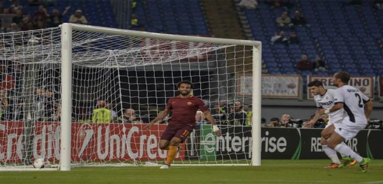 محمد صلاح نجم وهداف روما الإيطالي