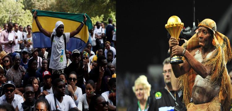كأس امم افريقيا وجانب من احتجاجات الجابون