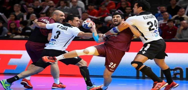 مصر تفوز على قطر بكرة اليد