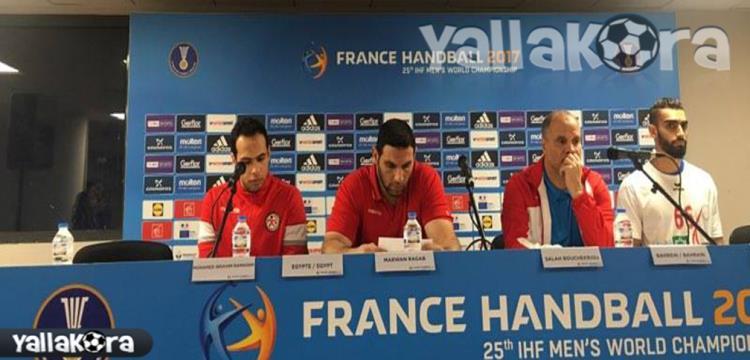 لقطة من المؤتمر الصحفي بعد المباراة