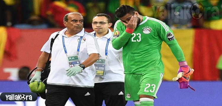 أحمد الشناوي يتعرض للإصابة في مباراة مالي