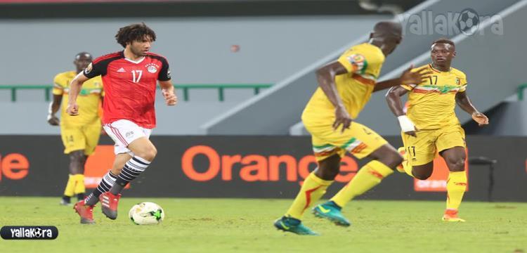 محمد النني في لقطة من المباراة