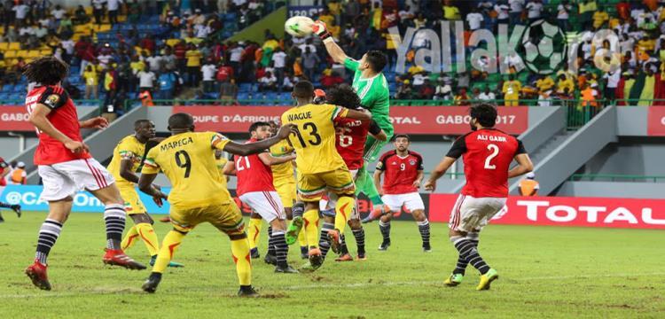 لقطة من مباراة مصر ومالي (تصوير: فريد قطب - الجابون)