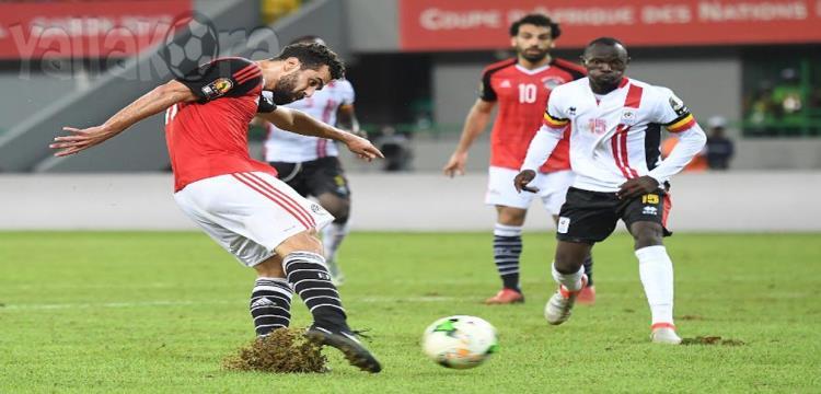 مصر أسقطت أوغندا في الجابون