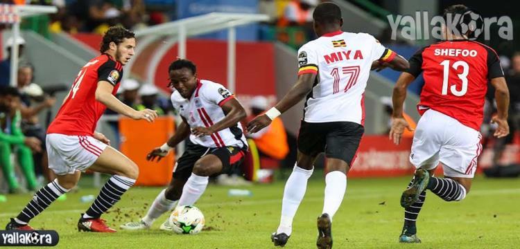 مباراة مصر وأوغندا في أمم إفريقيا بالجابون