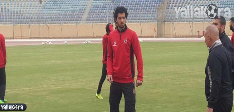 عمرو بركات في تدريبات الأهلي