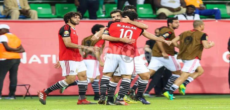 فرحة لاعبو مصر