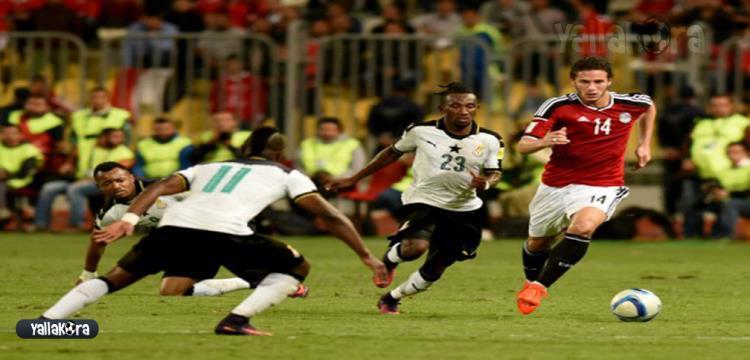 من مباراة مصر وغانا - أرشيفية