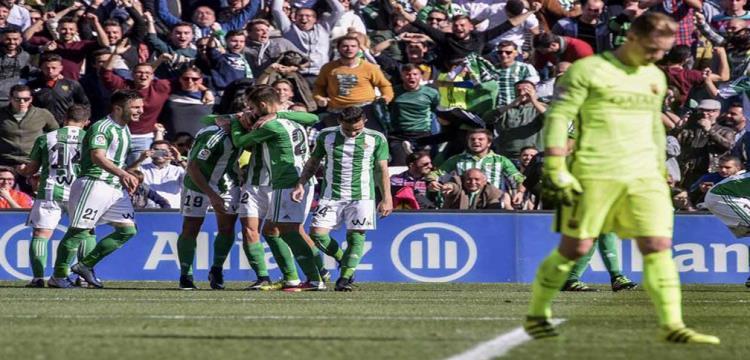 فرحة ريال بيتيس بالهدف
