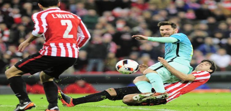 لقطة من مباراة برشلونة وبلباو