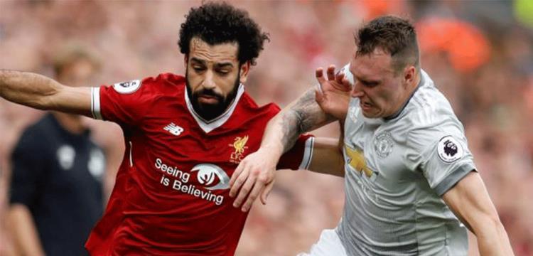 محمد صلاح في مواجهة مانشستر يونايتد
