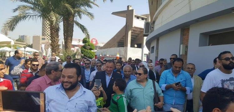 وصول محمود الخطيب لمقر الأهلي