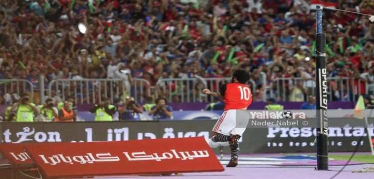 محمد صلاح يحتفل بالهدف القاتل