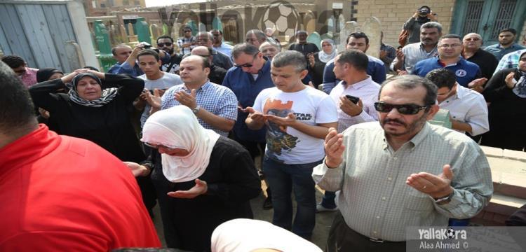 الخطيب في جنازة عم حسين