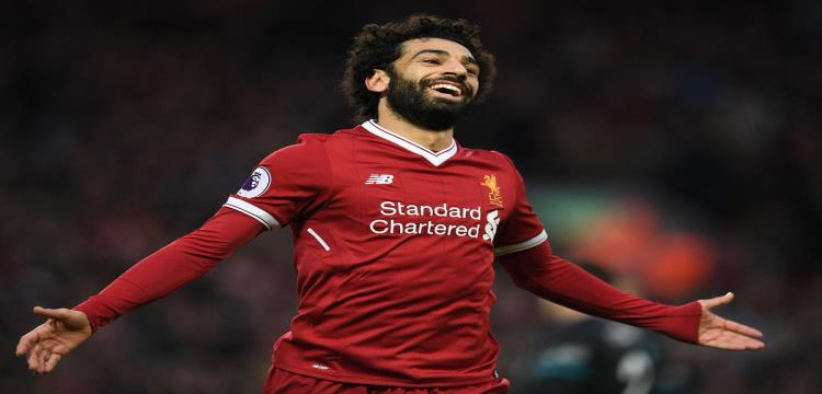 محمد صلاح يحتفل بهدفه الرائع مع ليفربول