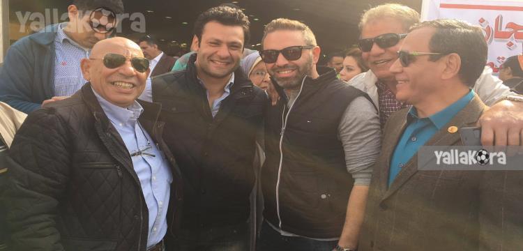 عبدالله جورج مع حازم إمام وأبو العلا