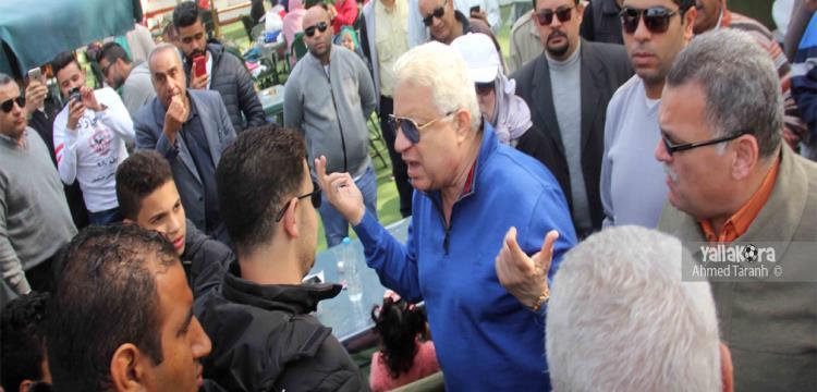 مرتضى منصور أثناء العملية الانتخابية