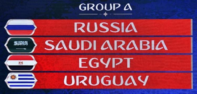 مجموعة مصر في مونديال روسيا