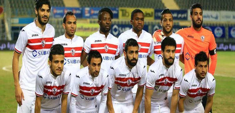 فريق الزمالك قبل المباراة .. تصوير: أحمد حسن
