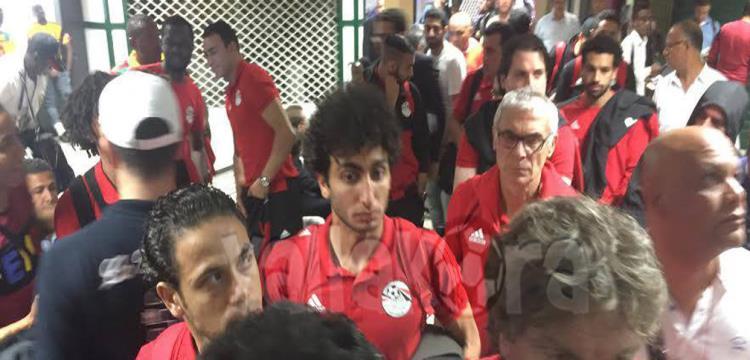 منتخب مصر قبل عودته للقاهرة